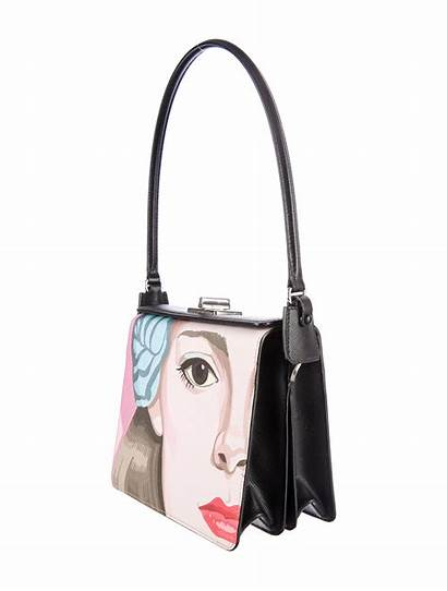 Bag Shoulder Face Prada Saffiano Handbags Printed