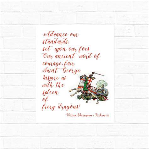 st george quote  shakespeares richard iii digital