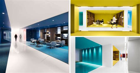 office interior  color  create distinct spaces