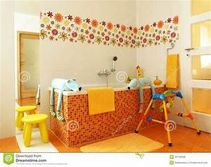 Colorful Modern Bathroom For Children Royalty Free Stock