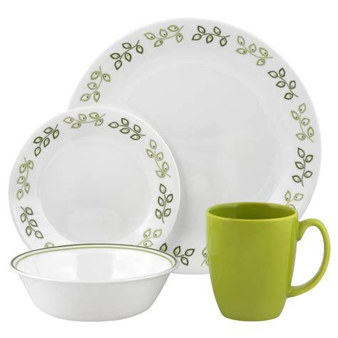corelle dinnerware leaf piece neo livingware sets dinner contours service walmart dining dishes plates lightweight plate vitrelle bowls leaves pc