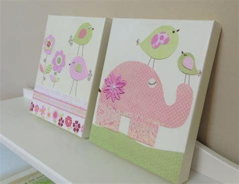 chambre bebe elephant déco tableaux déco chambre bébé oiseaux éléphant