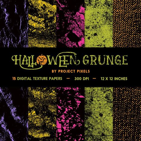 Halloween Grunge Textures Digital Paper Gritty Texture Etsy