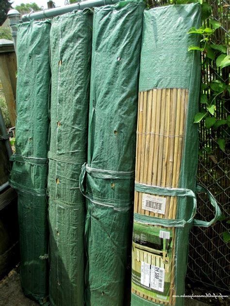 homemade bamboo fence