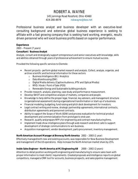 business performance management resume rob wayne business analyst resume