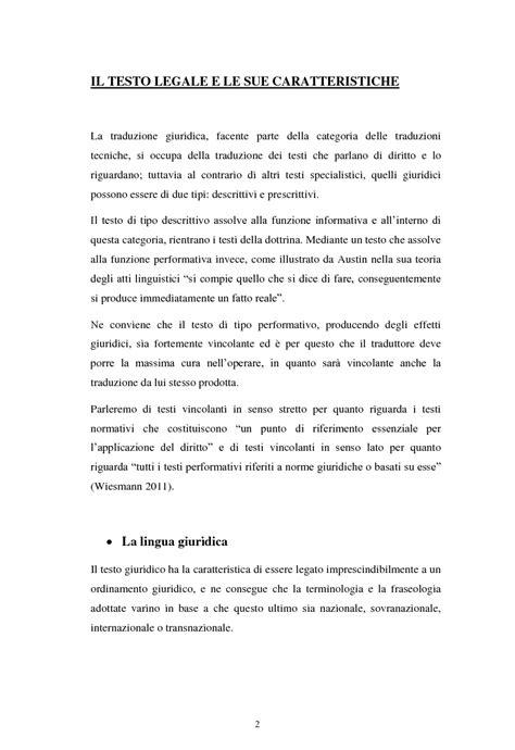 Testo In Tedesco La Lingua E Il Diritto Tradurre Una Sentenza Dal Tedesco