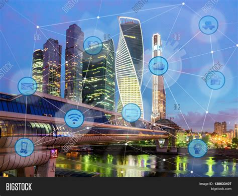 city and wireless communication network iot of things and ict information
