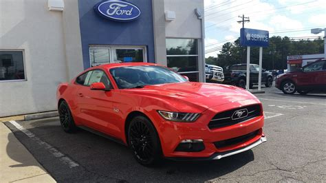 ford mustang gt premium competition orange