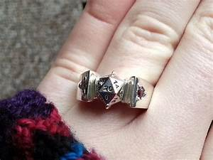 how i made a d20 engagement ring for my secret lesbian dd With lesbian ring finger wedding rings