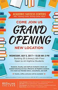 Bar Grand Opening Flyer Highline College Writing Center Events