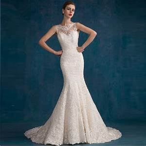 new style mermaid wedding dress 2015 see through back lace With see through lace back wedding dress