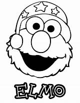 Elmo Coloring Pages Face Colouring Hat Abc Printable Clipart Template Painting Games Cool Books Clip Coloringhome Library sketch template