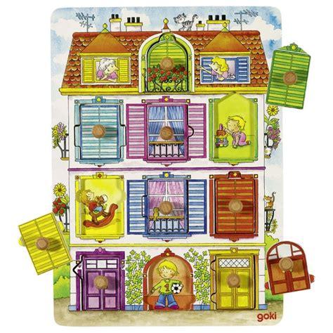 Goki 57598 Koka puzle-kas dzīvo Mājiņā? atver lodziņus un atklāj! 57598   Puzles   Rotaļlietas ...