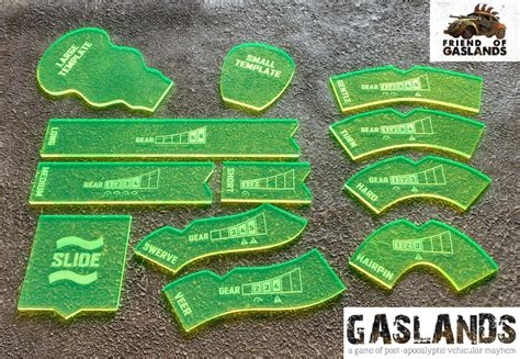 gaslands templates gaslands template set chimeric designs