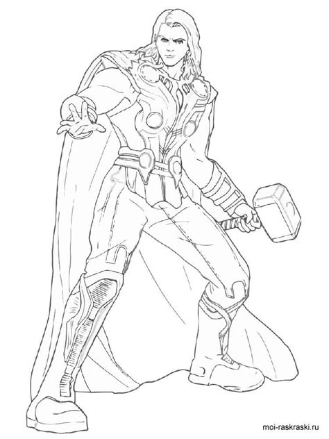 thor coloring pages  printable thor coloring pages