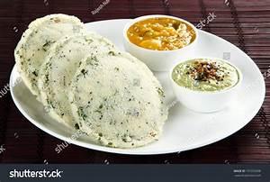 Indian Vegetarian Breakfast Rava Idli Sagu Stock Photo ...