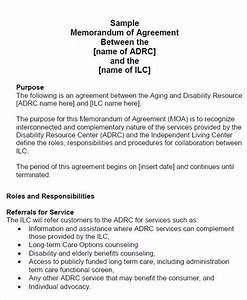 12 sample memorandum of agreement templates to download With how to write a memorandum of understanding template
