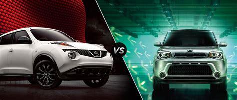 Kia Nissan by 2014 Nissan Juke Vs 2014 Nissan Kia Soul Robbins Nissan