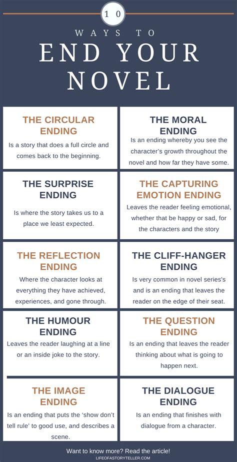 10 ways to end your novel writing writing writing