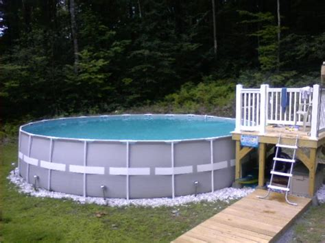 above ground swimming pool deck pictures intex pool deck idea pool ideas