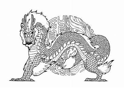 Dragon Coloring Dragons Pages Pauline Mandala Adult