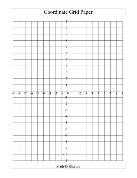 the coordinate grid paper a math worksheet from the