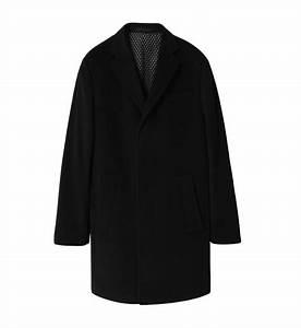 Manteau Homme Galerie Lafayette : manteau en cachemire azzaro noir homme galeries lafayette ~ Melissatoandfro.com Idées de Décoration