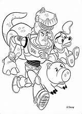 Toy Coloring Printable Toys Disney Gang Buzz Friends sketch template