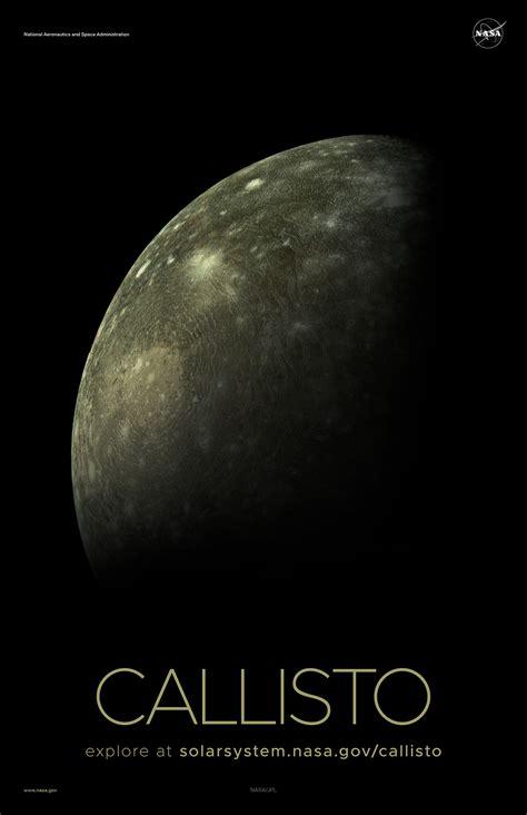 Jupiter's Moon Callisto Poster - Version B | Solar System ...