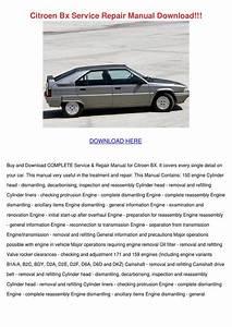 Citroen Bx Service Repair Manual Download By Geoffreyelias