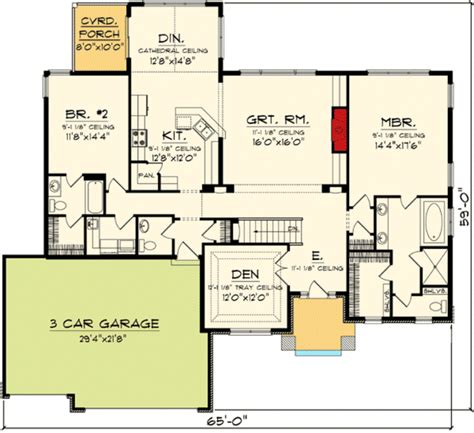 open one story house plans one story open concept floor plans