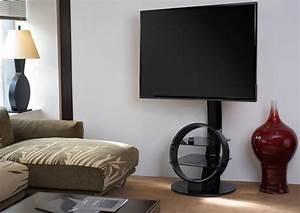Meuble Avec Support Tv : meuble tv circle avec support noir ateca made in design ~ Dailycaller-alerts.com Idées de Décoration