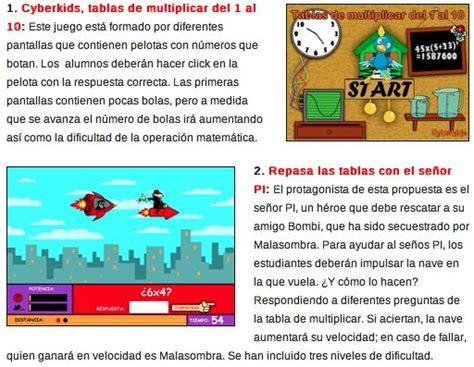Ayuda Para Maestros Juegos Para Aprender Las Tablas De