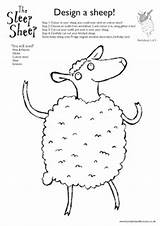Sheep Worksheet Worksheets Preschool Lamb Stitchery Embroidery Sketchbook Shaw Weasels Measles Hannah Career sketch template