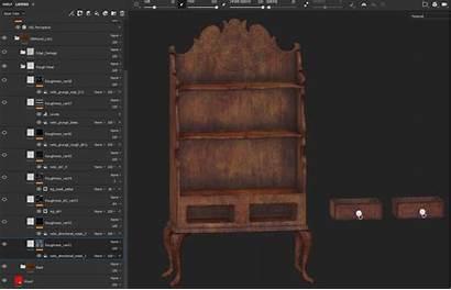 Maya Roughness Painter Substance Bookshelf Creating Antique