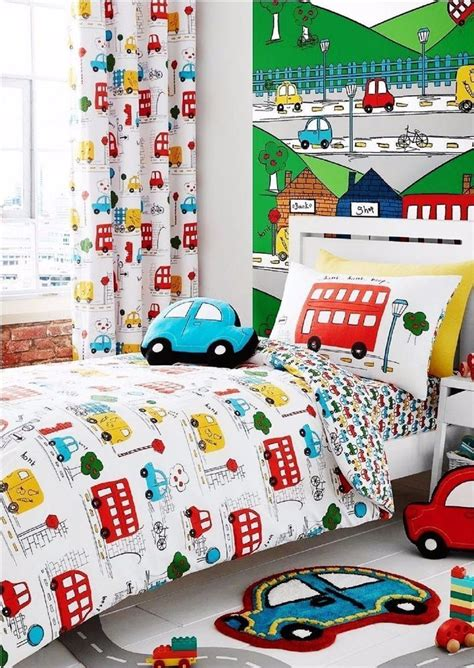 Toddler Boy Bedroom Sets Uk by Catherine Lansfield Kid S Transport Bright Cars Road
