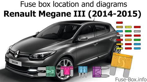 fuse box location  diagrams renault megane iii