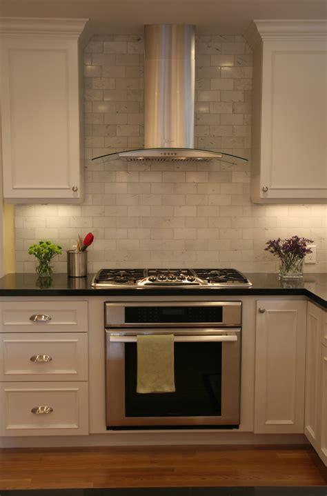 brick backsplash tiles Kitchen Traditional with floral