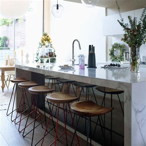white marble kitchen island modern kitchen with white marble island modern