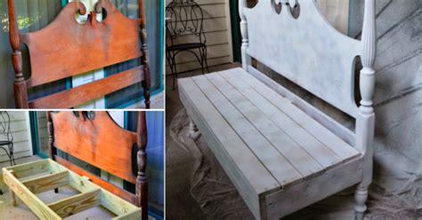 canape de jardin en bois transformez votre vieille tête de lit en un très joli banc