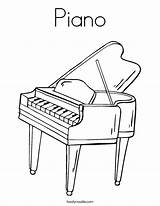 Piano Coloring Keyboard Music Pages Printable Twistynoodle Outline Angel Sheets Noodle Twisty Usa Play Favorites Login sketch template