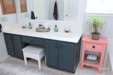 master bath progress cabinets painted  sherwin