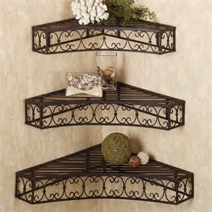 Wrought Iron Corner Wall Shelf