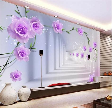 elegant photo wallpaper custom  wall murals purple
