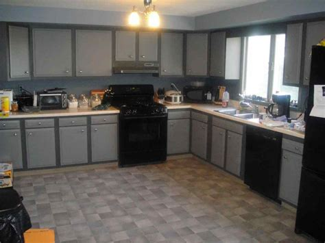 Kitchen Island With Seating Ideas - light gray kitchen cabinets with black appliances deductour com