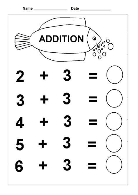 printable kindergarten math worksheets