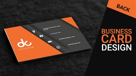 business card design  photoshop cs  orange