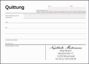 6 quittung vorlage bewerbungsschreiben for Vorlage quittung privat