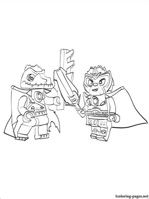 lego chima cragger battle printable page  color