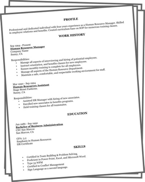 Free Easy To Make Resume by Create A Better Resume In Minutes Get A Better